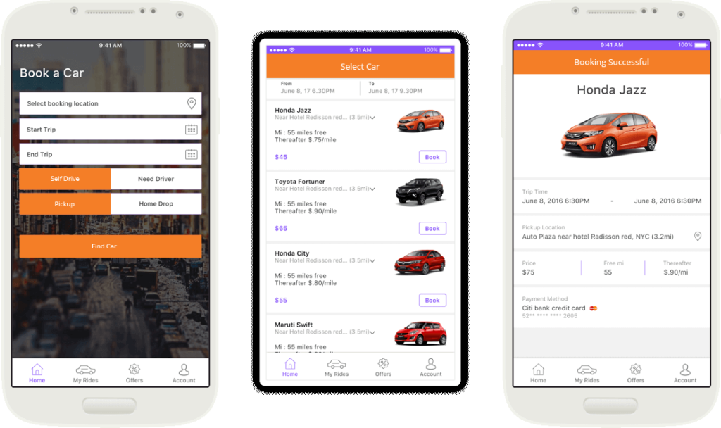 Car Rental Mobile App Development in uk