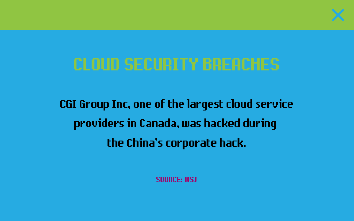 CLOUD SECURITY BREACHES
